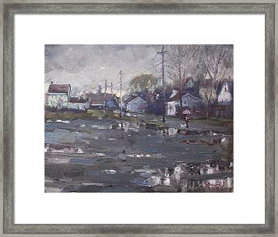 Gloomy And Rainy Day By Hyde Park Framed Print by Ylli Haruni