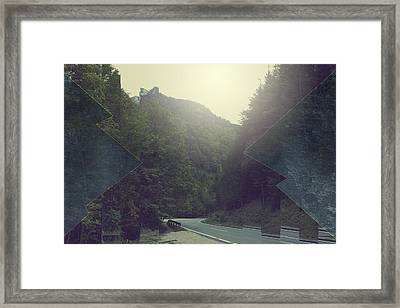 Gloomy Mountains Framed Print by Thubakabra