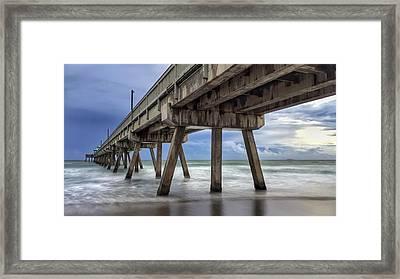 Gloomy Pier Framed Print