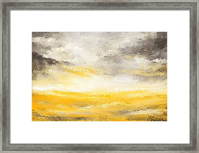 Gloomy Sunny Day Framed Print by Lourry Legarde