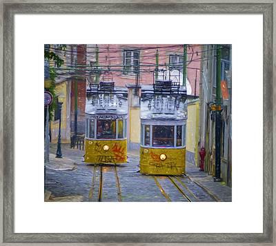 Gloria Funicular Lisbon Framed Print