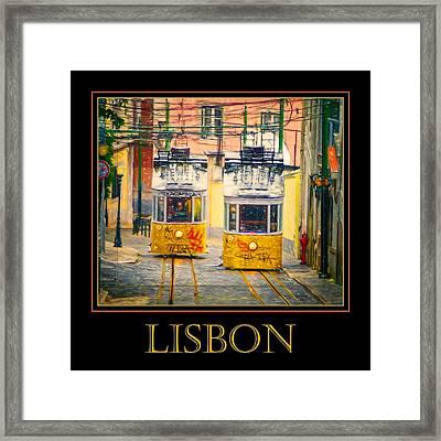 Gloria Funicular Lisbon Poster Framed Print
