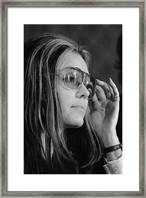 Gloria Steinem B. 1934, Feminist Framed Print by Everett