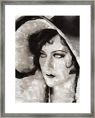 Gloria Swanson, Actress Framed Print
