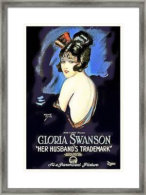 Gloria Swanson In Her Husband's Trademark 1922 Framed Print