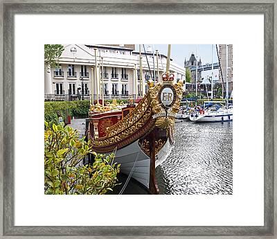 Gloriana - The Royal Barge Framed Print by Gill Billington
