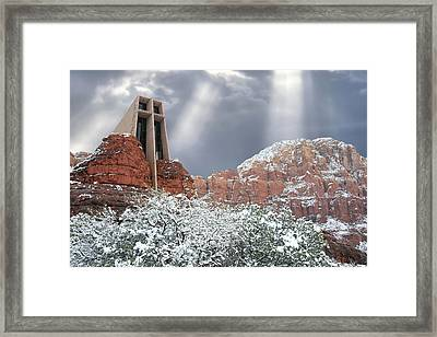 Framed Print featuring the photograph Glorious Chapel Of The Holy Cross by Donna Kennedy