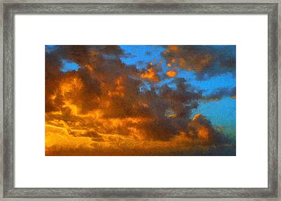 Glorious Clouds Framed Print by Dave Bosse