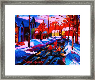 Glorious Day For A Game Framed Print by Carole Spandau