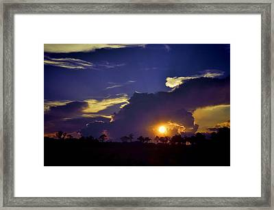 Framed Print featuring the photograph Glorious Days End by Jan Amiss Photography