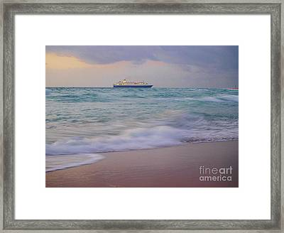 Glorious Emerald Sea Framed Print by E Luiza Picciano