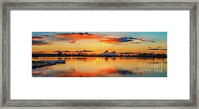 Framed Print featuring the photograph Glorious Evening by Robert Bales