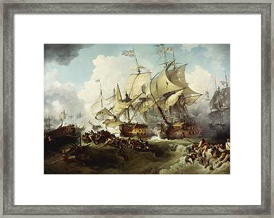 Glorious First Of June Framed Print by Philippe Jacques de Loutherbourg