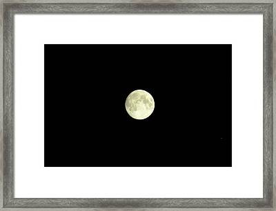 Glorious Moon  Framed Print