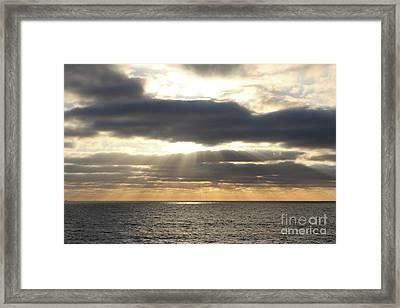 Glorious Rays Sunset Framed Print by Carol Groenen