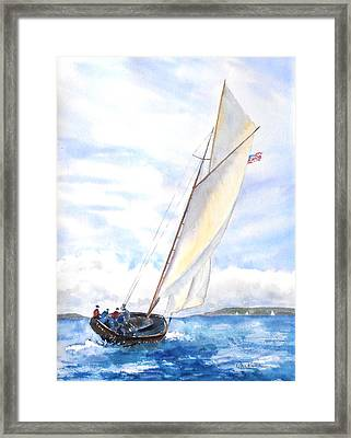 Glorious Sail Framed Print
