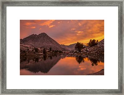 Glorious Sierra Sunset Framed Print