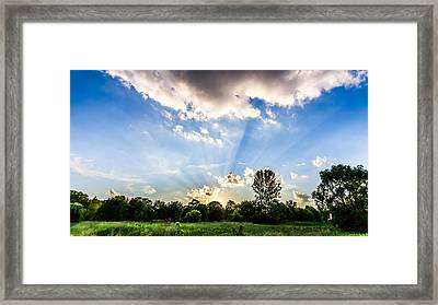 Framed Print featuring the photograph Glorious Sky - B by Anthony Rego