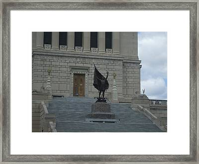 Glorious Statue Framed Print
