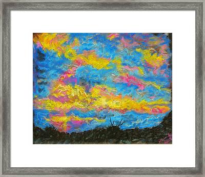 Glorious Sunset 2 Framed Print by Laura Heggestad