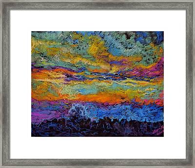 Glorious Sunset 3 Framed Print by Laura Heggestad