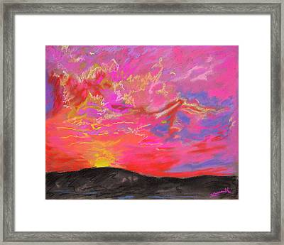 Glorious Sunset 5 Framed Print by Laura Heggestad
