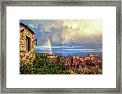 Glorious View From North Rim Lodge Framed Print