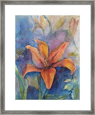 Glorius Lily Framed Print by Joyce Kanyuk