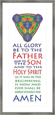 Glory Be Prayer Framed Print by Lawrence Klimecki