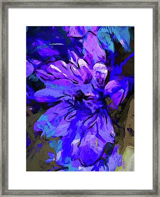 Glory Blue Framed Print