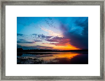 Glory In The Sky Framed Print by Shelby  Young