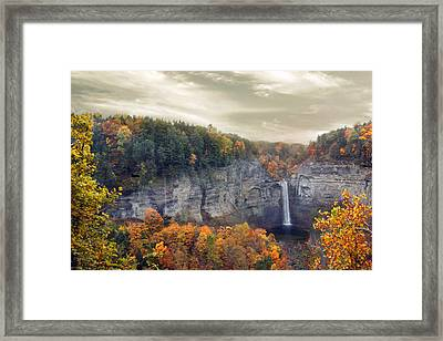 Glory Of Taughannock Framed Print by Jessica Jenney