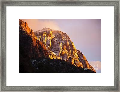 Glory Of Zion I Framed Print by Irene Abdou