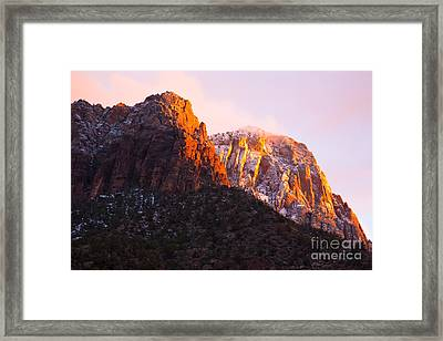Glory Of Zion IIi Framed Print by Irene Abdou