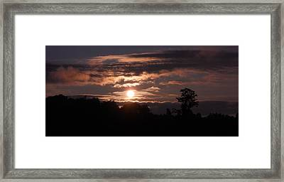Framed Print featuring the photograph Glory Train In The Sky by Diannah Lynch
