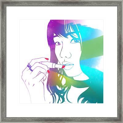 Glossy Girl Framed Print