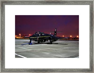 Framed Print featuring the photograph Gloster Meteor T7 by Tim Beach