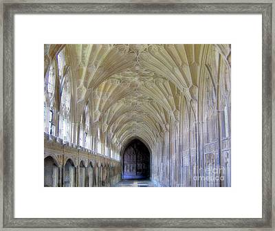 Gloucester Cathedral Cloisters Framed Print