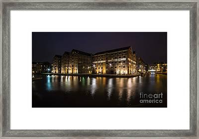 Gloucester Docks By Night  Framed Print