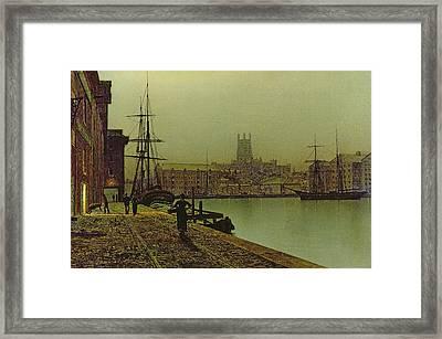 Gloucester Docks Framed Print by John Atkinson Grimshaw