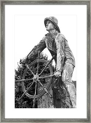Framed Print featuring the photograph Gloucester Fisherman's Memorial by Mitch Cat