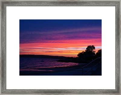 Gloucester Harbor Beach Framed Print
