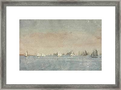 Gloucester Harbor Fishing Fleet Framed Print by Winslow Homer