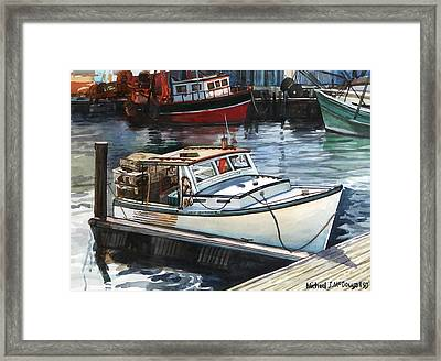 Gloucester Harbor Framed Print by Michael McDougall