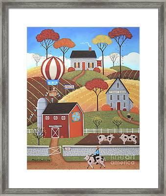 Gloucestershire Village Framed Print
