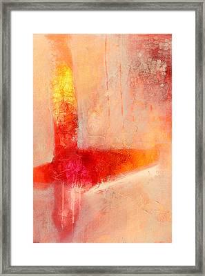 Glow 2 Abstract Art Framed Print by Nancy Merkle