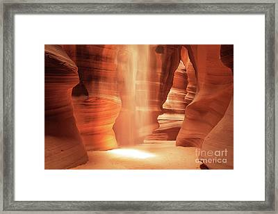 Glow - Antelope Canyon Framed Print by Martin Williams