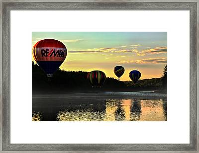 Glow By The River Framed Print
