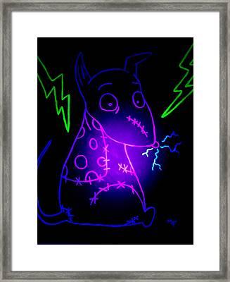Glow Frankenweenie Sparky Framed Print
