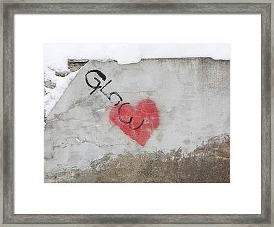 Framed Print featuring the photograph Glow Heart by Art Block Collections